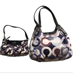 coach (2) purses one for mommy and me regular&mini
